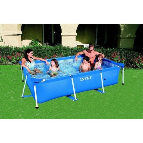 Intex metal frame piscine tubulaire rectangulaire 2 6 x 1 6 x 0 65 m - Piscine tubulaire intex pas cher ...