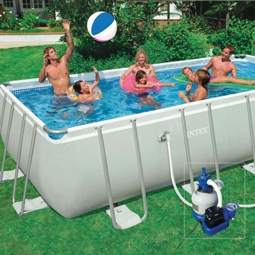 Ultra Frame Pool Set Piscine Rectangulaire Tubulaire 5,49 X 2,74 X 1