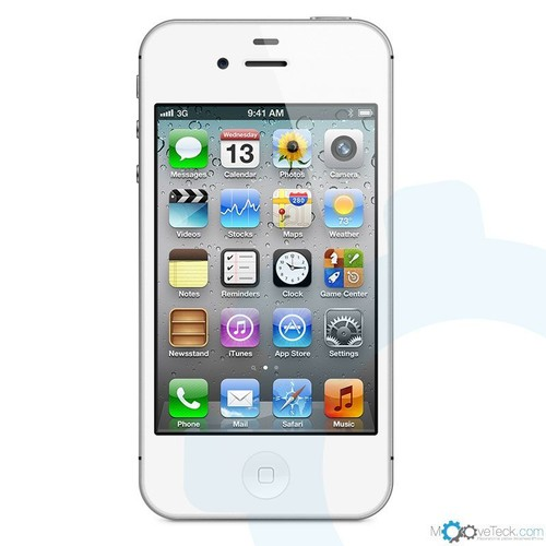 iphone 4s 16go blanc reconditionn garantie 1an pas cher. Black Bedroom Furniture Sets. Home Design Ideas