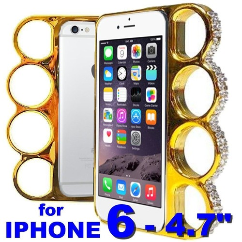 iphone 6 4 7 coque poing am ricain dor e or strass knuckle style fashion gold case. Black Bedroom Furniture Sets. Home Design Ideas