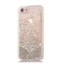 iPhone 6/6S-coque-girly-perle-paillettes-liquide-argent