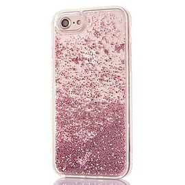 iPhone 6/6S-coque-girly-perle-paillettes-liquide-Rose