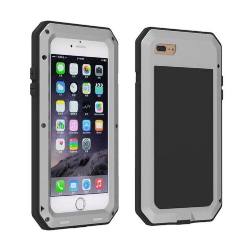 iphone 7 plus argent coque tanche en aluminium avec film en verre tremp gorilla. Black Bedroom Furniture Sets. Home Design Ideas