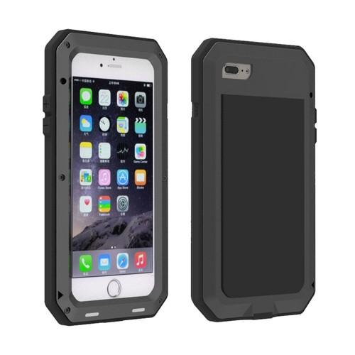 iphone 7 plus noir coque tanche en aluminium avec film en verre tremp gorilla. Black Bedroom Furniture Sets. Home Design Ideas