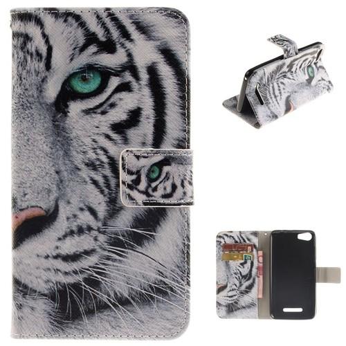ivencase pour wiko lenny 2 coque housse tigre animaux en pu cuir tui rabat pochette de. Black Bedroom Furniture Sets. Home Design Ideas