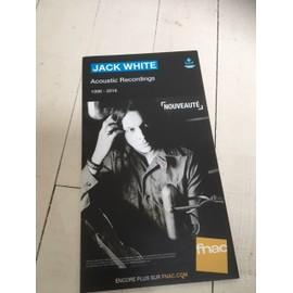 Petite annonce Jack White Acoustic Recordings Rare Plv Fanc Carton Rigide - 60000 BEAUVAIS