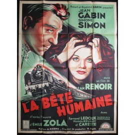 jean gabin la bete humaine jean renoir film 1938 120x160 cm affiche de cin ma. Black Bedroom Furniture Sets. Home Design Ideas
