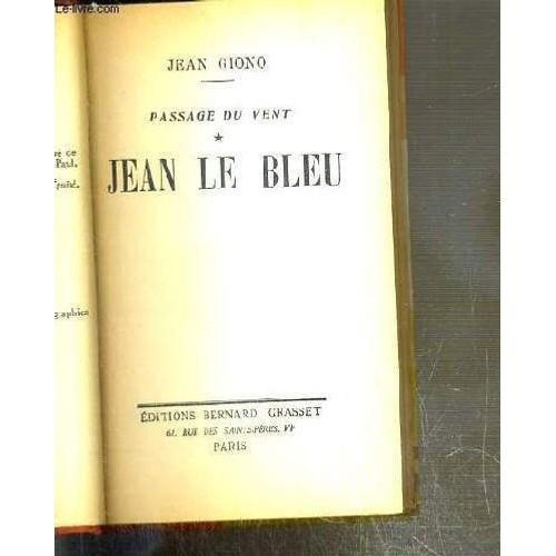 official photos ff9d8 290ac jean-le-bleu-passage-du-vent-tome-1-de-jean-giono-1057901295L.jpg