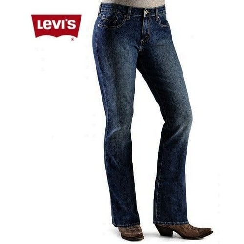 jean levi 39 s 525 levis denim bleu slim bootcut femme fille t 36 ou w26 l34. Black Bedroom Furniture Sets. Home Design Ideas