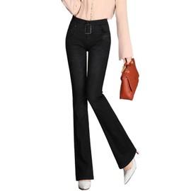 revendeur 4f743 13648 Jean Slim Fit Femme Taille Haute Stretch Effet Délavé Pantalon Évasée  Amincissant Confortable