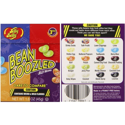 jelly belly jeu bean boozled bonbon americain 45g pas cher. Black Bedroom Furniture Sets. Home Design Ideas