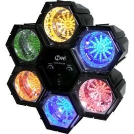 jeu de lumiere 6 modules spots a led multicolores vitesse reglable - Spot Led Multicolore