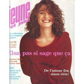 jeune et jolie elsa lunghini 4 pages patrick bruel 2 pages 41. Black Bedroom Furniture Sets. Home Design Ideas