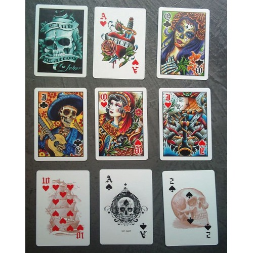 Jeux De Carte Tattoo Rock Roll 52 2 Joker Tatouage Usa Rakuten