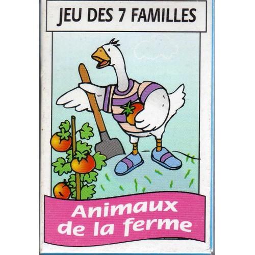 jeux des 7 familles animaux de la ferme achat et vente. Black Bedroom Furniture Sets. Home Design Ideas