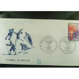 Jeux Olympique Hiver Grenoble 1968 Serie De 5 Enveloppes