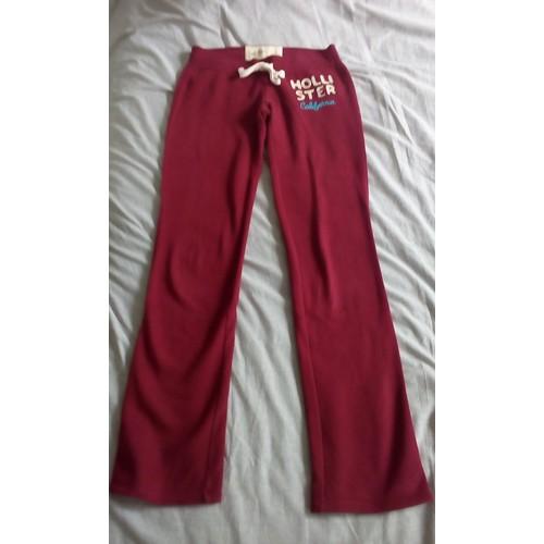 36 34 Rouge Coton Fille Xs Ou Jogging Bordeaux Hollister Taille beW2IYED9H