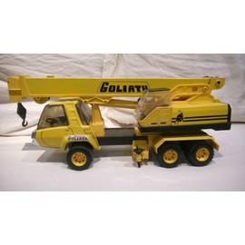 jouet ancien camion grue goliath jaune joustra achat et vente. Black Bedroom Furniture Sets. Home Design Ideas