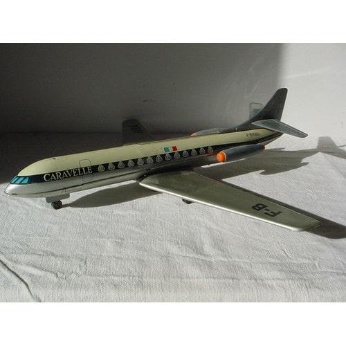 jouet mont blanc an 70 bel avion caravelle en tole neuf et. Black Bedroom Furniture Sets. Home Design Ideas