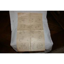 drouot oreiller Journal Des Demoiselles 14 Rue Drouot Paris Patron Alphabet Corail  drouot oreiller