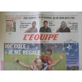 Journal L'equipe N�20895 - Joe Cole : Je Me Regale