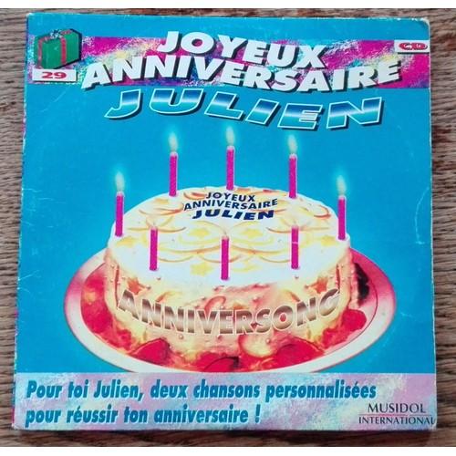 Joyeux Anniversaire Julien Alexandre Khelil Cd Album Rakuten