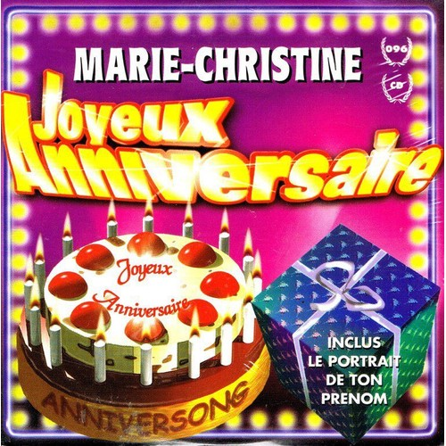Joyeux Anniversaire Marie Christine Anniversong Cd Single Rakuten