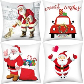 Joyeux Noel Imprimer.Joyeux Noel Imprimer Taie Polyester Canape Coussin Car Cover