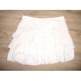 72bbc558d7f9a6 Jupe Camaieu blanche dentelle T40