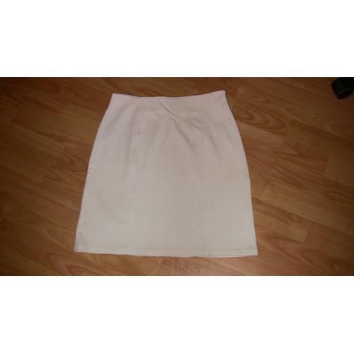 Jupe droite blanche taille 38 comptoir des cotonniers - Code avantage comptoir des cotonniers ...