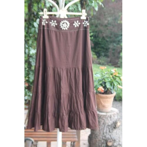 2ecc4bb900229 jupe longue/jupon 1.2.3,marron/chocolat