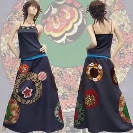 jupe longue robe bustier 3436384042 - Jupe Colore