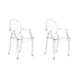 Kartell Set De 2 Chaises Louis Ghost Cristal