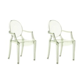Kartell Set De 2 Chaises Louis Ghost Vert