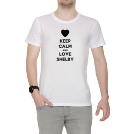 Keep Calm And Love Shelby Homme T Shirt Cou D39équipage Blanc