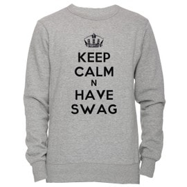 3e9e02f9e3a keep-calm-n-have-swag-unisexe-homme-femme-sweat-shirt-jersey-pull-over-gris-toutes-les-tailles-unisex-men-39-s-women-39-s-jumper-sweatshirt-pullover-grey-  ...