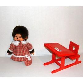 kiki ecoliere avec son bureau kiki peluche kiki le vrai ajena 18cm. Black Bedroom Furniture Sets. Home Design Ideas
