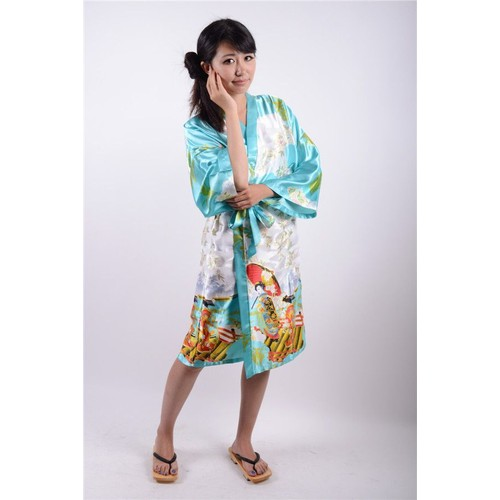 kimono robe de chambre peignoir yukata japonais soie cosplay d guisement convention japan anime. Black Bedroom Furniture Sets. Home Design Ideas