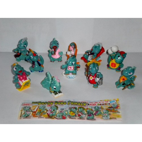kinder surprise s rie die dapsy dino family 1997 x10 figurines 1 bpz ferrero magic kinder. Black Bedroom Furniture Sets. Home Design Ideas