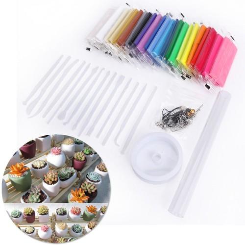 kit 24 couleurs p te polym re outils de modelage accessoires fil cristal rouleau. Black Bedroom Furniture Sets. Home Design Ideas