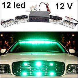 kit 4 flash d 39 urgence led blanc signalisation stroboscopique type voiture pilote. Black Bedroom Furniture Sets. Home Design Ideas