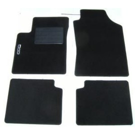 kit 4 tapis de sol auto fiat 500 avec sigle 500 moquette noire neuf. Black Bedroom Furniture Sets. Home Design Ideas