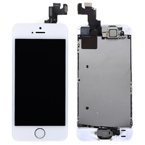 kit complet pour iphone 5s neuf ecran lcd tactile bouton camera blanc. Black Bedroom Furniture Sets. Home Design Ideas