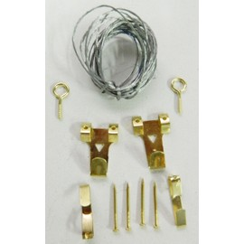 Kit crochets attaches tableaux cable attache tableau - Accrochage tableaux au mur ...