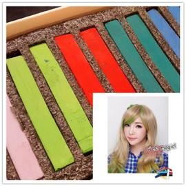 kit de coloration teinture temporaire craies pour cheveux hair chalk 6 couleurs tout type de cheveux - Coloration Temporaire