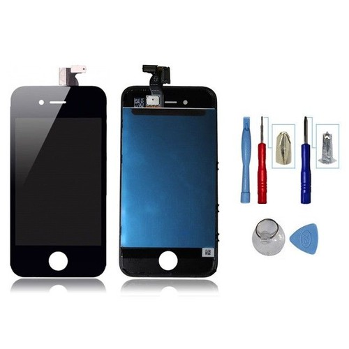 Kit face avant iphone 4s noir vitre tactile ecran lcd for Ecran photo iphone noir