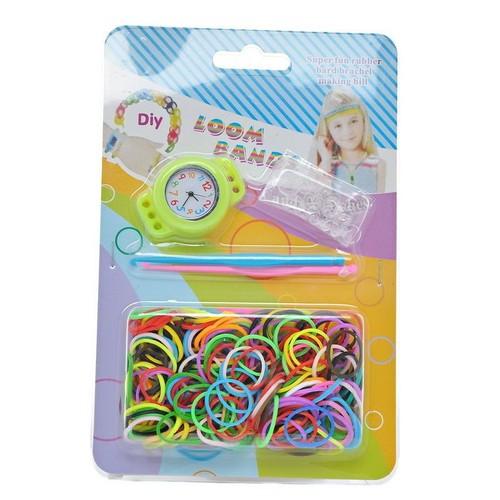 kit loom bands complet pour fabriquer des montres en bracelets lastique 2 crochets 12. Black Bedroom Furniture Sets. Home Design Ideas