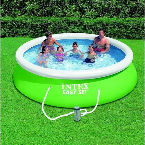 kit piscinette easy set intex verte 3 66m x 84cm pas cher