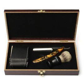 kit rasoir droit coupe choux barbe cheveux blaireau brosse pour homme. Black Bedroom Furniture Sets. Home Design Ideas