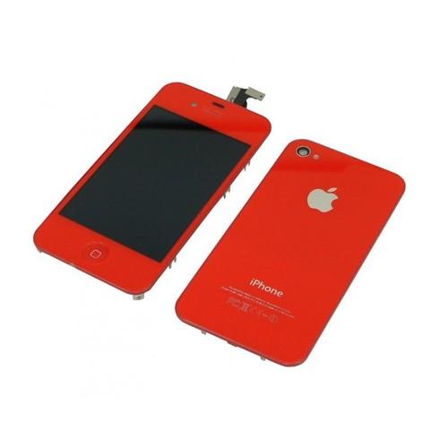 kit rouge ecran lcd vitre tactile assembl pour iphone 4s neuf outils. Black Bedroom Furniture Sets. Home Design Ideas